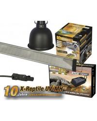 2mal Komplettset UV-MH 70Watt Spot, 1 LED TerraStrip 2020 superflat 120cm